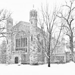 'Snow on the Law Quad' - Ann Arbor, Michigan